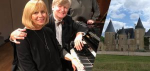 Duo de Piano a 4 mans al Castell de Beaupuy, Saulgé. Gennady Dzubenko – Larisa Loginova.